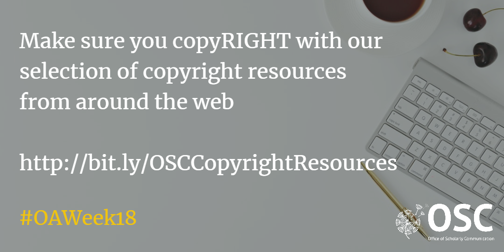 Announcement: Make sure you copyRIGHT with our selection of copyright resources from around the web
