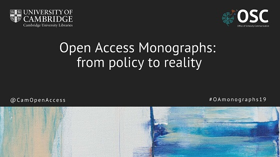 "Image promoting the ""Open Access Monographs: from policy to reality"" symposium featured in this section"