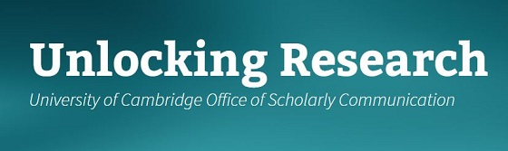 "Image showing the title: ""Unlocking Research, University of Cambridge Office of Scholarly Communication"""