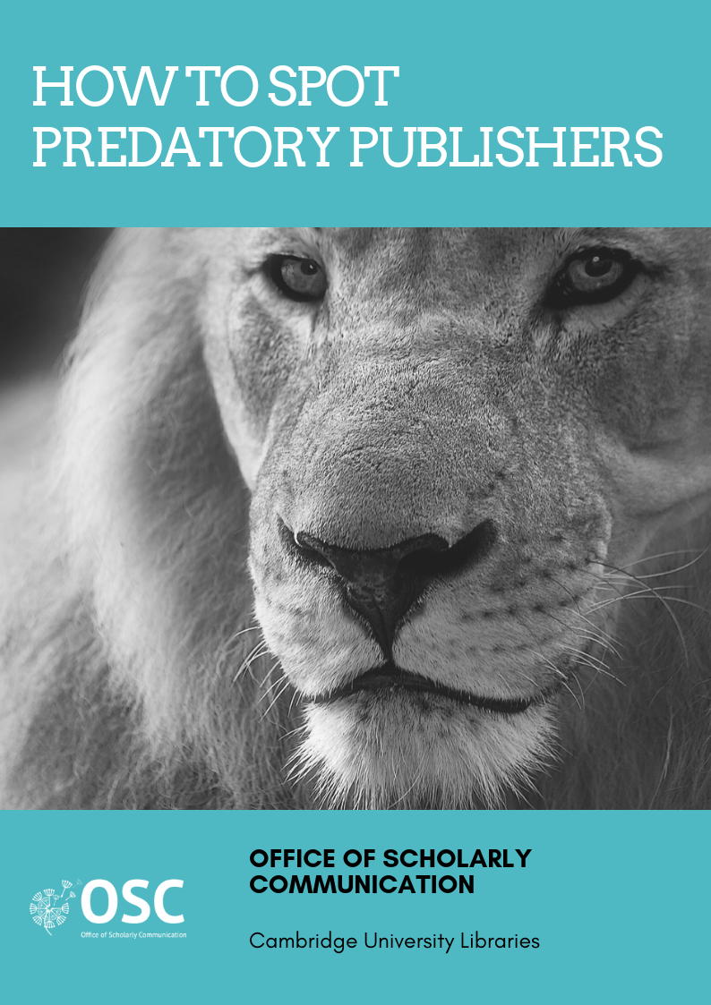 Predatory publishers handy guide