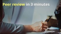 Peer review in 3 minutes video card