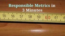 Responsible metrics in 3 minutes video card